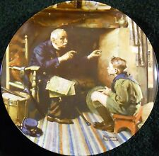 """Norman Rockwell Collector Plate The Veteran Heritage Collection 8"""" D Box Coa"""