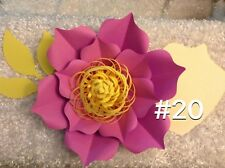 Hard Copy #20 Paper Flower Template, DIY Giant flowers, Backdrops, Decor