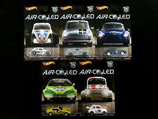 Hot Wheels Car Culture Air-Cooled Set Of 5 Die-casts VW Volkswagen Porsche Fiat