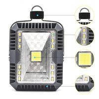 5W Solar LED Camping Lantern Tent Light Flashlights USB Rechargeable COB Light
