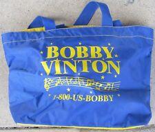 Bobby Vinton vinyl tote bag Branson, Missouri 15� long x 13� high x 9� wide