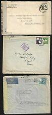 PALESTINE 1941 45 THREE CENSSORED COVERS WARTIME COVERS JAFFA JERSULEM & TEL AVI