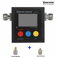 Surecom Sw-102 Digital Antenna Power 125-525Mhz&2 Rf Adapter Connector Swr Meter
