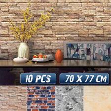10X 3D Tapete Wandpaneele Selbstklebend Ziegel Wasserfest Wandaufkleber 70*77cm