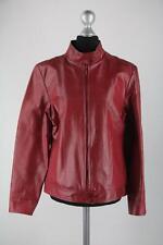 Canda rote Damen-Lederjacke mit Reißverschluss Größe 38/S Top Zustand