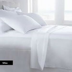 100% COTTON BAMBOO WHITE BED SHEET SET IS CLEAN COOL 310 THREAD COUNT EGYPTIAN