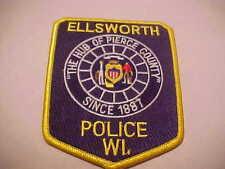 ELLSWORTH WISCONSIN  POLICE PATCH **** FREE USA SHIP ****
