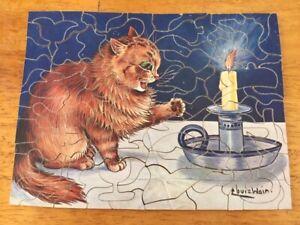 Vintage Wooden jigsaw puzzle,Raphael Tuck England Louis Wain