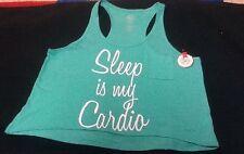 """NWT's SO Intimates Size L """"SLEEP IS MY CARDIO"""" Green Sleepwear"""