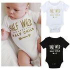 Newborn Baby Girl Boy Short Sleeve Jumpsuit Toddler Infant Romper Outfit Clothes