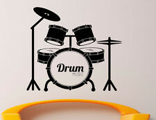 Music Wall Decal Vinyl Sticker Music Notes Drum Set Interior Art Decor (32mu)