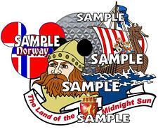 Disney Epcot Norway Viking Mickey Scrapbook Paper Die Cut Embellishment Piece