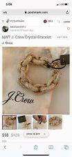 J-Crew Gold Tone Chunky Chain Womens Designer Jewelry Bracelet