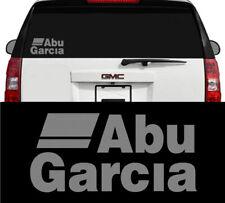 Abu Garcia Fishing Reels & Rods Outdoors Vinyl Decal Sticker Metallic Silver 8in