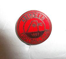 Aberdeen FC distintivo Small Rosso Rotondo