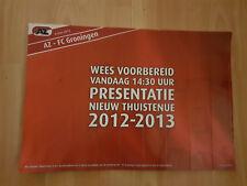 AZ Alkmaar v FC Groningen 06-05-2012 paper hand clapper / voetbalklapper