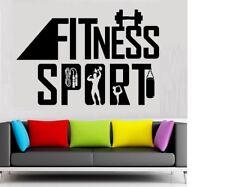Fitness Sport Fittness Wandtattoo Wallpaper Wand Schmuck 56 x 66  cm Wandbild
