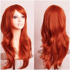 Fashion Anime Cosplay Wig Lady Women Party Costume Wig Dress Medium Wavy Wigs G
