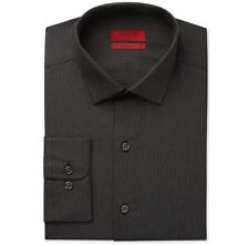 NWT $95 ALFANI Men FITTED BLACK RED LONG-SLEEVE BUTTON DRESS SHIRT 15-15.5 32/33