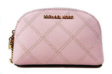 ** MICHAEL KORS Glamour Blossom Saffiano Leather Cosmetic Case Msrp $138.00
