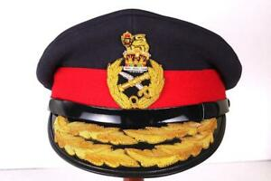 WW2 BRITISH ARMY MAJOR GENERAL VISOR HAT GOLD BRAID CAP MILITARY 58cm 7 1/4 LGE