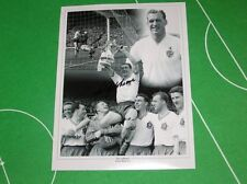 Bolton Wanderers Nat Lofthouse Signed Photographic Montage incl 1958 FA Cup