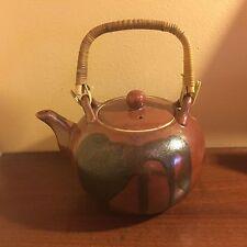 Vintage Brown Ceramic Decorative Tea Pot