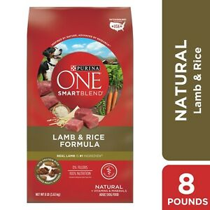 Purina ONE Natural Dry Dog Food, Smart Blend Lamb & Rice Formula, 8 lb. Bag