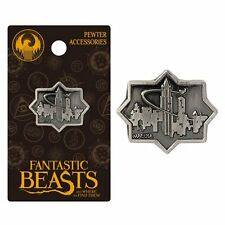 Harry Potter New * MACUSA City  * Pewter Lapel Pin Fantastic Beasts Charm NIP
