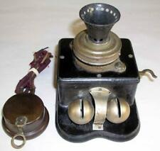 Antique Whitman & Couch Boston Mass Telephone With Sleigh Bells & Watchcase Rec.
