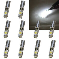 10 x White LED 6000K 58 70 73 74 T5 Dashboard Gauge 3 3528 SMD Wedge Bulb Light