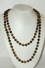 Old Necklace Bead Chain Gemstone Necklace Stones Tiger Eye Chain Stone 130gr