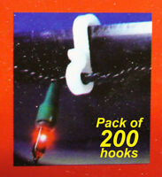 200 Pack General Purpose Gutter Hooks / Clips for Hanging Christmas Lights