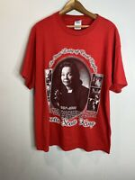 Vintage Black History Tee Shirt Size L Short Sleeve Red Coretta King 2006