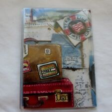 Card Case Vintage Travel Poster pass holder: Credit Bus Subway Metro ATM Gift