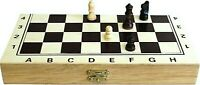 FOLDING WOODEN SMALL CHESS SET HIGH QUALITY CHESSBOARD SETS BOARD GAMES 24 CM