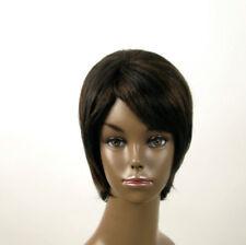 perruque afro femme 100% cheveux naturel méchée noir/cuivré KITTY 02/1b30