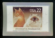 Novelty stamp Puzzle postcard Scott #2373 Cats Abyssinian Himalayan 1988