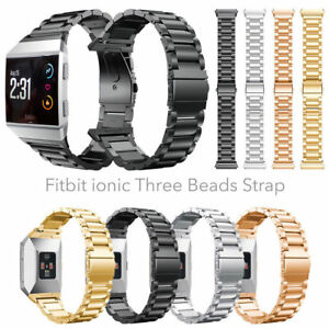 OZ For Fitbit Ionic Watch Stainless Steel Clasp Wrist Band Bracelet Replacement