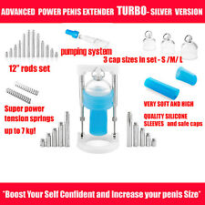 "12"" Inch NEW BIGGER PENIS EXTENDER ENLARGEMENT PUMP STRETCHER POWER MALE SYSTEM"