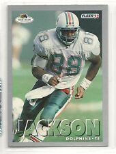 1993 Fleer Fruit of the Loom Football - #28 - Keith Jackson - Miami Dolphins