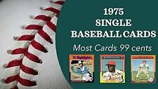 1975 Topps Baseball complete ur set #1-#249 (most 99 cents)