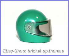 Lego Helm mit Visier grün - 2446 & 2447- Minifig Helmet Visor green - NEU / NEW