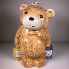 Collectible Treasure Craft Honey Bear With Bee Large Ceramic Cookie Jar