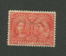 Queen Victoria 1897 Canada 20c Stamp #59 Scott Value $275
