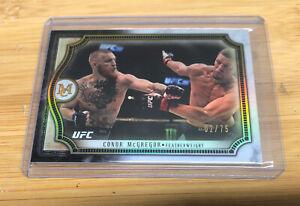 2018 Topps UFC Museum Conor McGregor 02/75 Nate Diaz