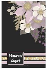 Black Purple Flower Website Internet Username Password Keeper Journal Book Log