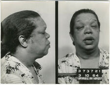 Photo Bertillon identification Policière Police Mug Shot Usa Philadelphia 1964