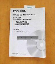 TOSHIBA SD-24 VLSL - BEDIENUNGSANLEITUNG · MANUAL - Original · EN/DE/IT/ES