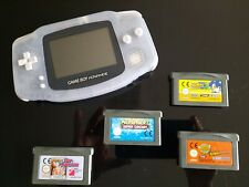 Nintendo Game Boy Advance-Clear Blue + Mario kart + 3 weitere Spiele